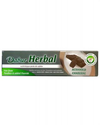 Tandkräm Charcoal Dabur 6x100 Ml